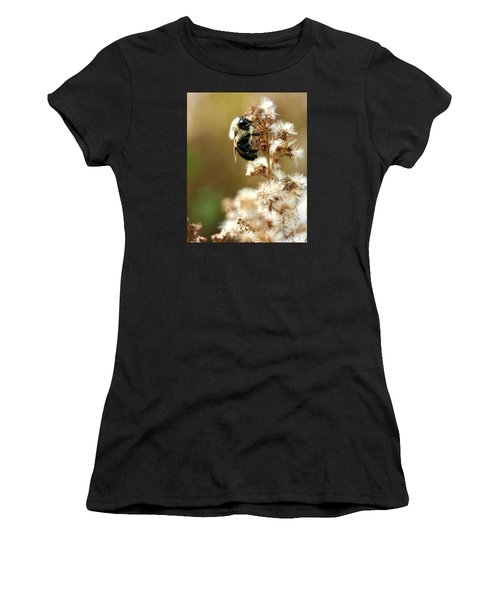 Bee On Goldenrod Women's T-Shirt (Athletic Fit)