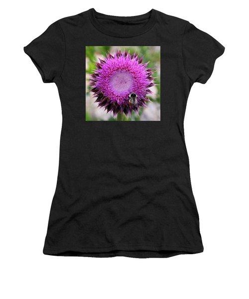Bee On Thistle Women's T-Shirt