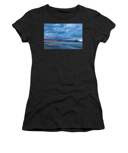 Before Sunrise At Folly Beach Pier, South Carolina Women's T-Shirt