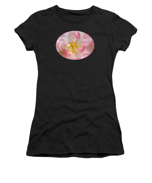 Begonia Pink Frills - Horizontal Women's T-Shirt