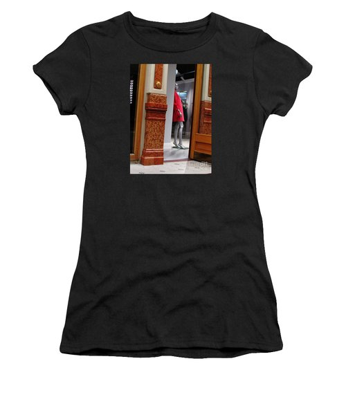 Behind Doors Women's T-Shirt (Athletic Fit)