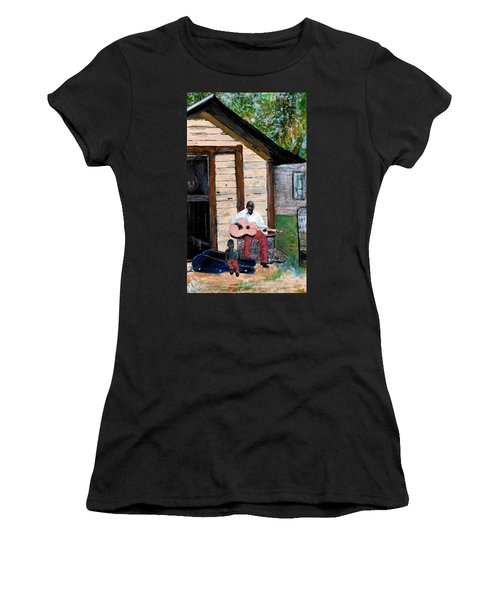 Behind The Old House Women's T-Shirt (Athletic Fit)