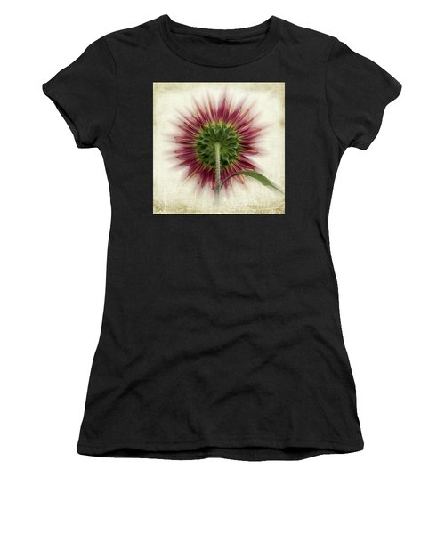 Women's T-Shirt featuring the photograph Behind The Sunflower by Patti Deters