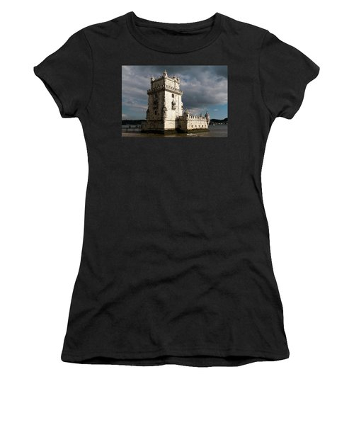 Women's T-Shirt featuring the photograph Belem Tower In Color by Lorraine Devon Wilke