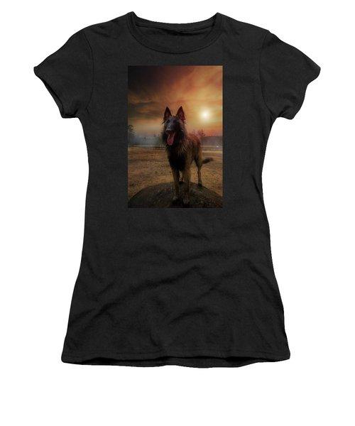 Belgian Shepherd Women's T-Shirt (Junior Cut) by Rose-Marie Karlsen