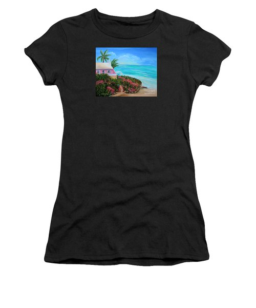 Bermuda Bliss Women's T-Shirt (Junior Cut) by Shelia Kempf