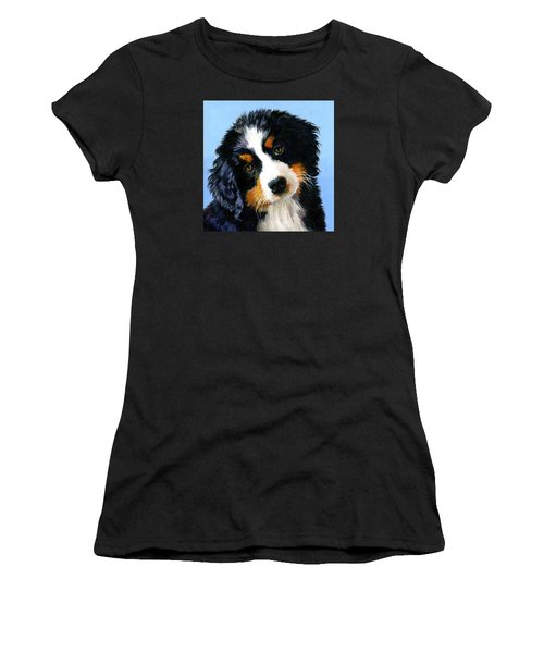 Bernese Mountain Puppy Women's T-Shirt (Athletic Fit)