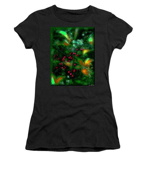 Women's T-Shirt (Junior Cut) featuring the photograph Berries by Iowan Stone-Flowers