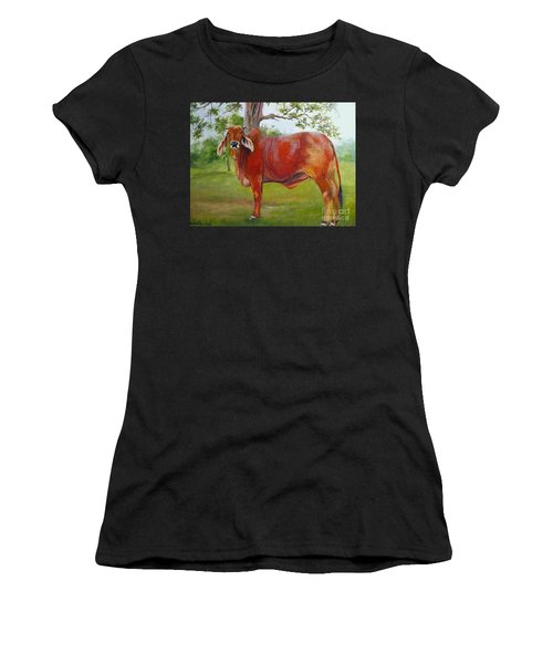 Bessie The Brahama Women's T-Shirt (Athletic Fit)