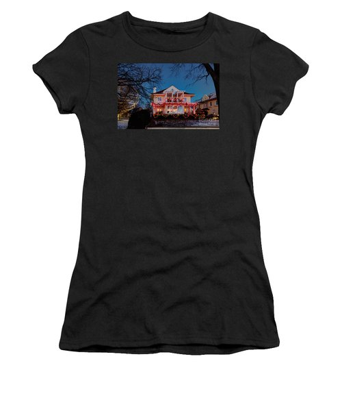 Best Christmas Lights Lake Of The Isles Minneapolis Women's T-Shirt (Athletic Fit)