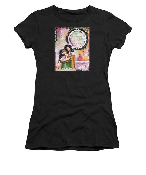 Best Friends By Heart, Sisters By Soul Women's T-Shirt (Athletic Fit)