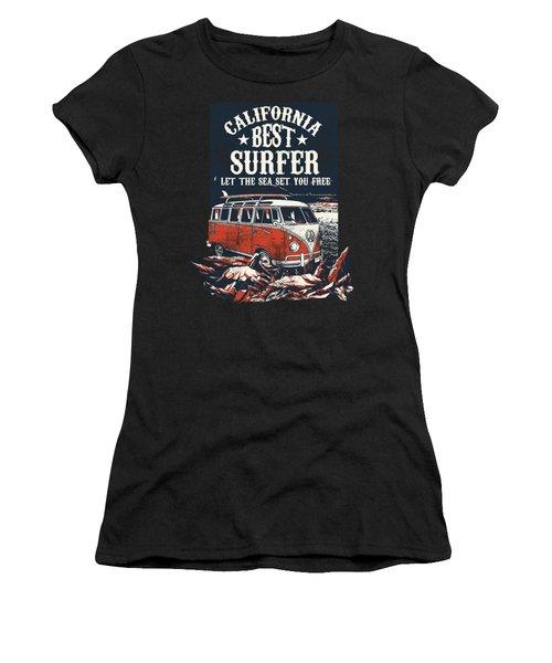 Best Surfer Women's T-Shirt (Athletic Fit)