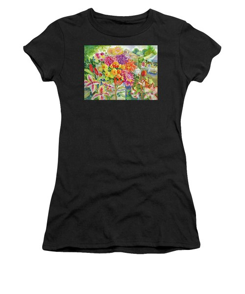 Betsy's Dahlias II Women's T-Shirt (Athletic Fit)