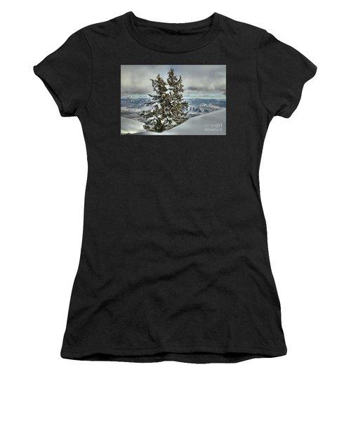 Between Mountains And Snow Drifts Women's T-Shirt