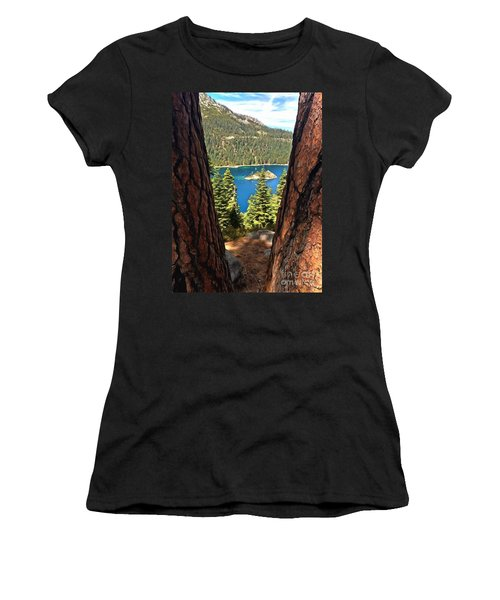 Between The Pines Women's T-Shirt (Athletic Fit)