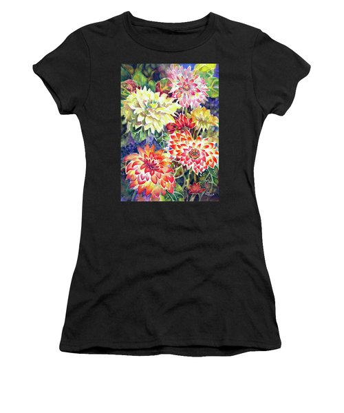 bety's Dahlias Women's T-Shirt (Athletic Fit)