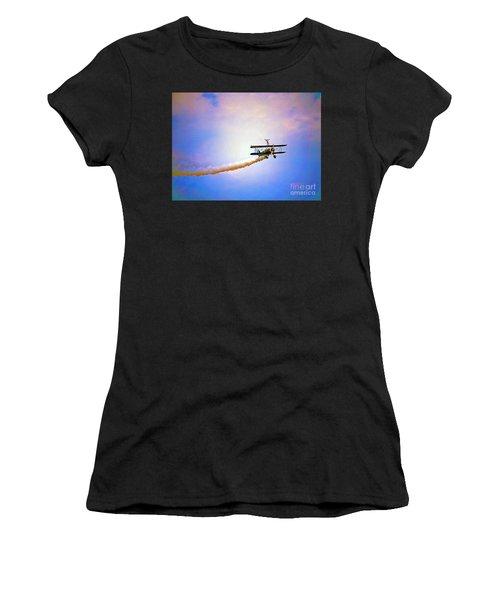 Bi-plane And Wing Walker Women's T-Shirt