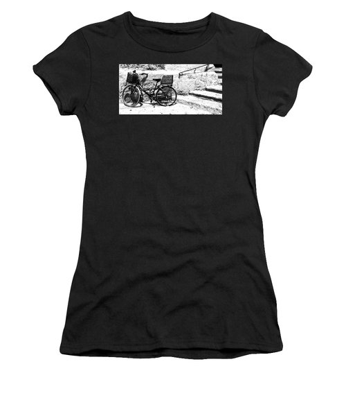 Bicyle In Cuitadella Women's T-Shirt (Athletic Fit)