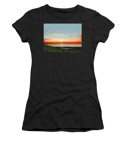 Big Assawoman Bay Women's T-Shirt (Athletic Fit)