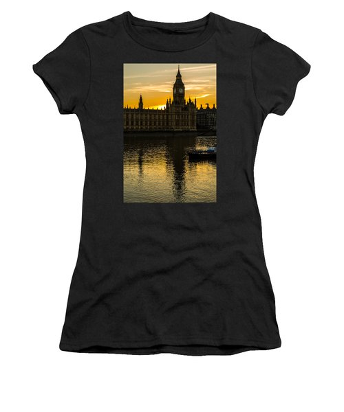 Big Ben Tower Golden Hour In London Women's T-Shirt