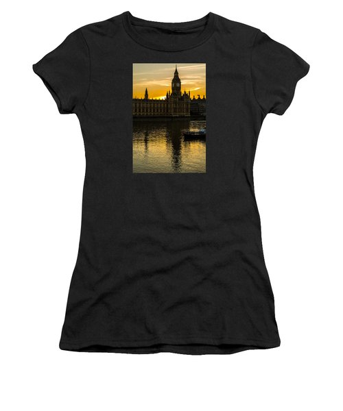 Big Ben Tower Golden Hour In London Women's T-Shirt