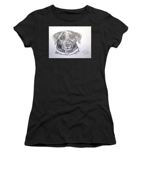 Big Black Dog Women's T-Shirt (Athletic Fit)