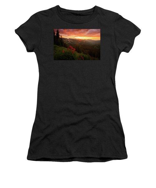 Big Cottonwood Sunset Women's T-Shirt