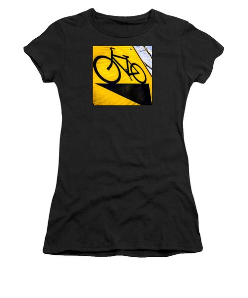 Women's T-Shirt (Junior Cut) featuring the photograph Bike Sign by Wade Brooks