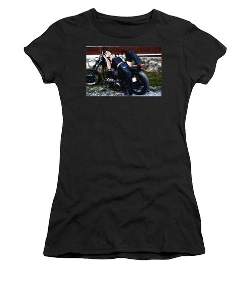 Bikes And Babes Women's T-Shirt (Athletic Fit)