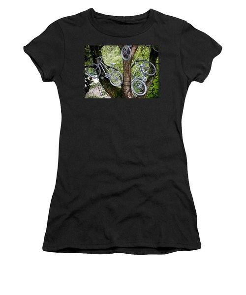 Bikes In A Tree Women's T-Shirt