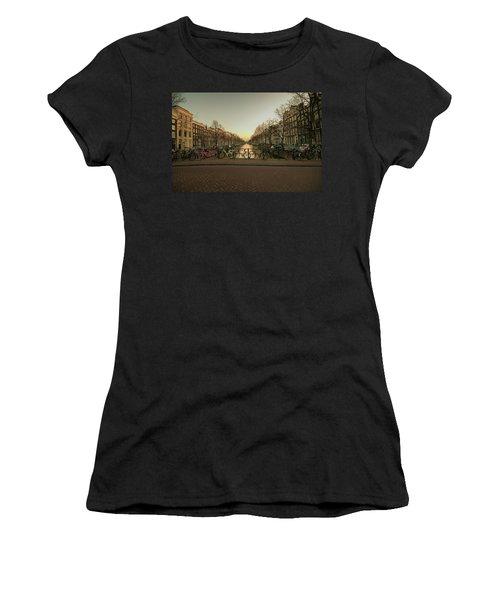 Bikes On The Canal Bridge Women's T-Shirt