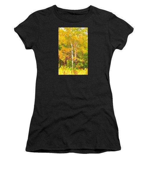 Birch Afire  Women's T-Shirt (Athletic Fit)