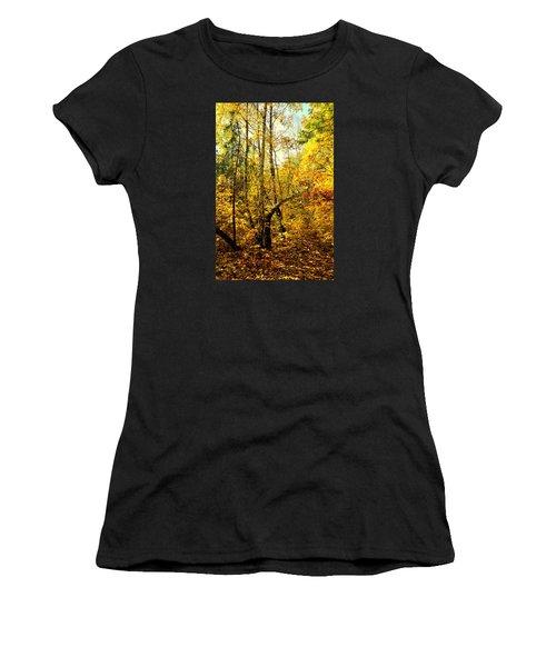 Birch Autumn Women's T-Shirt (Junior Cut) by Henryk Gorecki