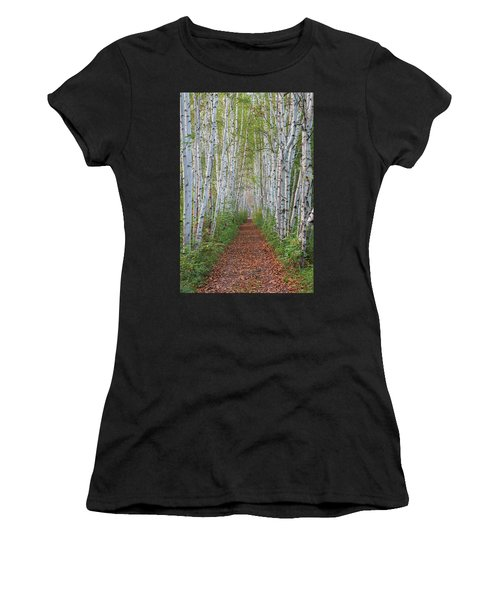 Birch Path Women's T-Shirt (Athletic Fit)