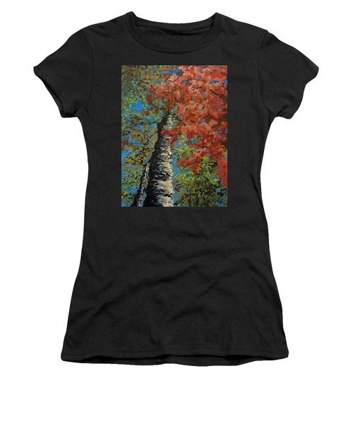 Birch Tree - Minister's Island Women's T-Shirt (Athletic Fit)
