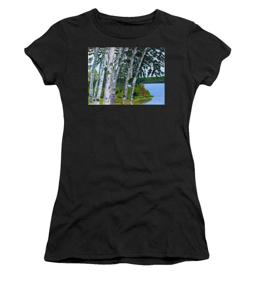 Birches At First Connecticut Lake Women's T-Shirt (Athletic Fit)