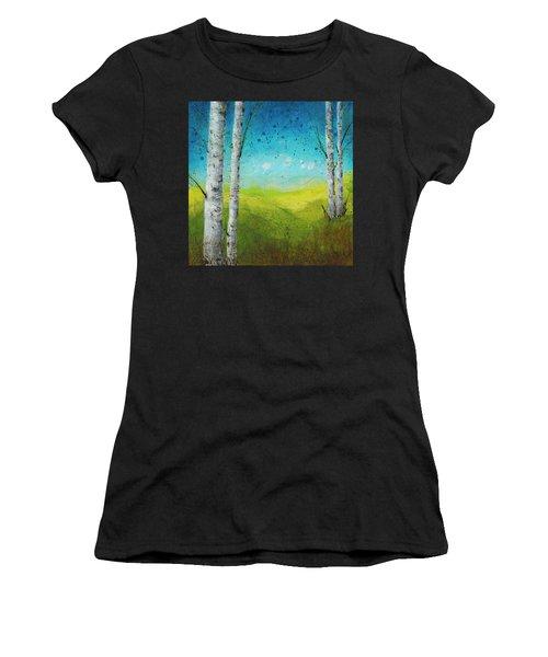 Birches In Green Women's T-Shirt