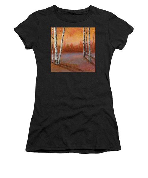 Birches In The Fall Women's T-Shirt