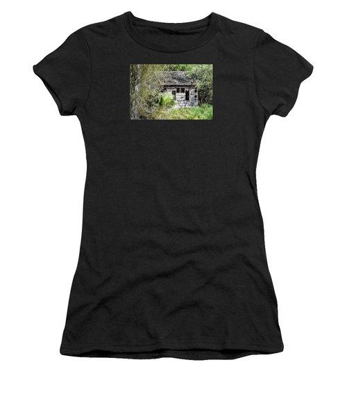 Bird Blind At Frontera Audubon Women's T-Shirt (Athletic Fit)