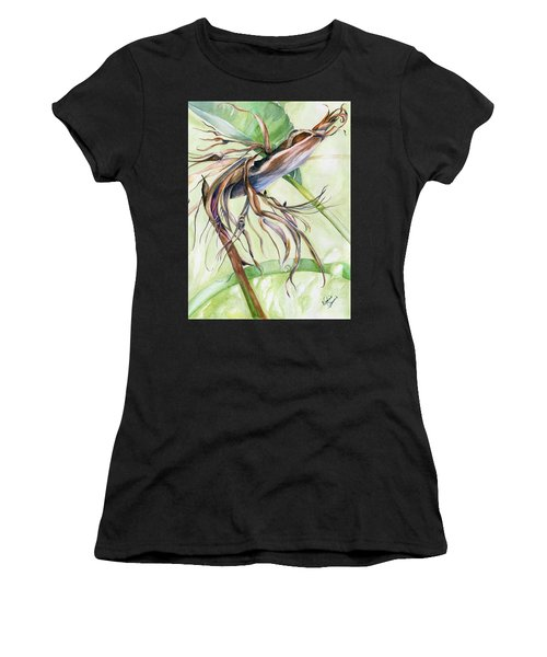 Bird Of Paradise, A Faded Beauty Women's T-Shirt (Athletic Fit)