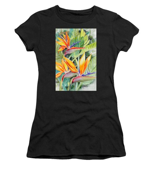 Bird Of Paradise Flowers Women's T-Shirt