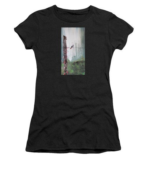 Bird On A Wire Women's T-Shirt (Athletic Fit)