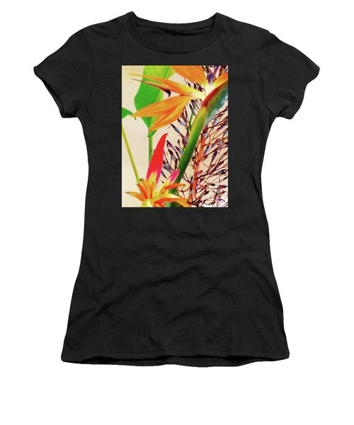 Birds Bromeliads Halyconia Women's T-Shirt