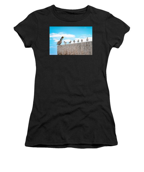 Birds Catching Up On News Women's T-Shirt (Athletic Fit)