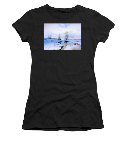 Birth Of Spring In The Snow Women's T-Shirt