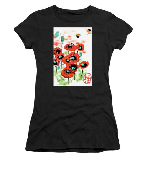 Birthday Field Of Flowers  Women's T-Shirt (Athletic Fit)