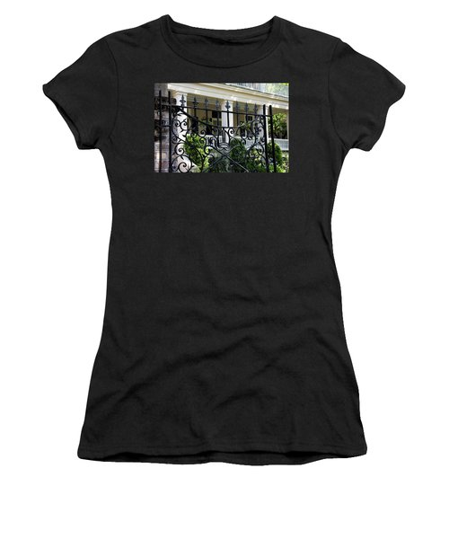 Bishop's Gate Women's T-Shirt (Junior Cut) by Ed Waldrop