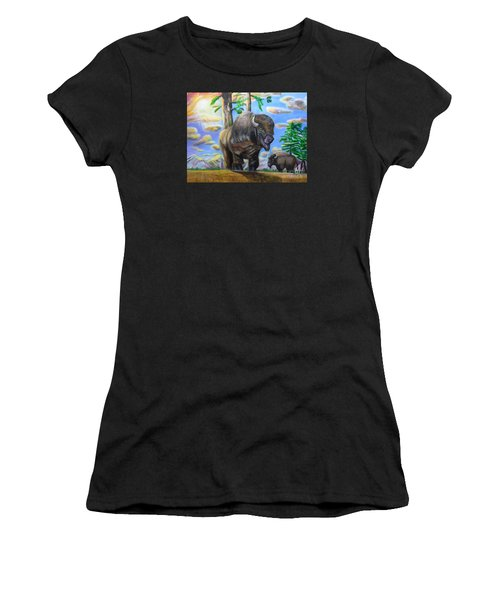 Bison Acrylic Painting Women's T-Shirt