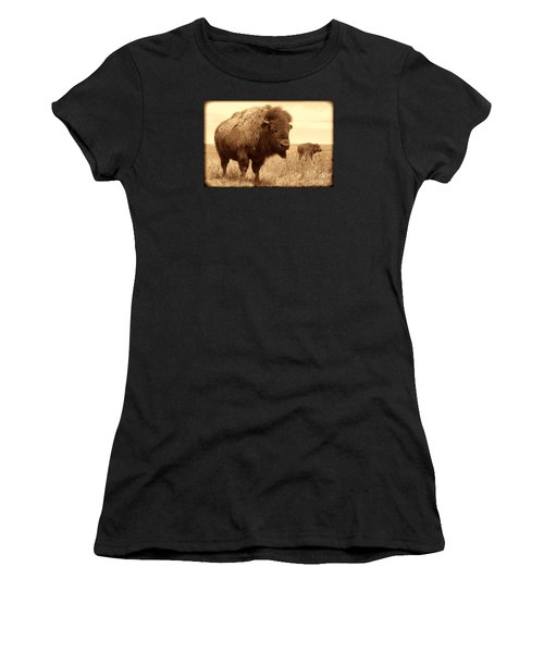 Bison And Calf Women's T-Shirt