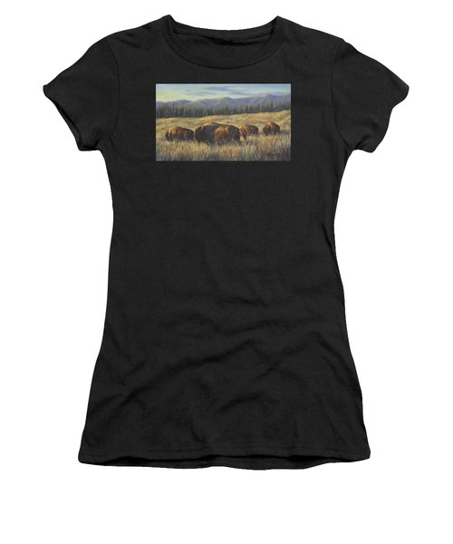 Bison Bliss Women's T-Shirt (Athletic Fit)
